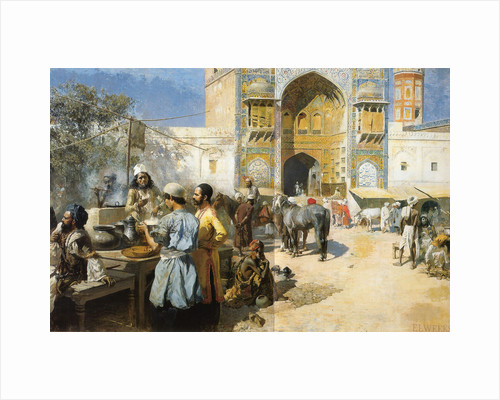 An Open-Air Restaurant, Lahore, c1889. by Edwin Lord Weeks