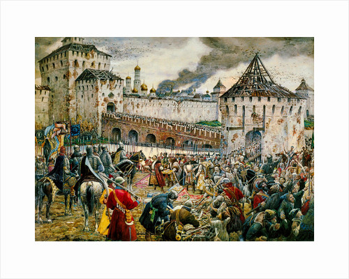 The expulsion of Polish invaders from the Moscow Kremlin, 1612 (late 19th or early 20th century) by Ernest Ernestovich Lissner