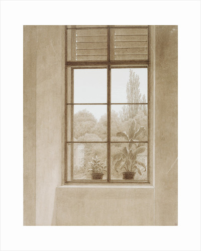 Window Looking over the Park, 1810-1811. by Caspar David Friedrich