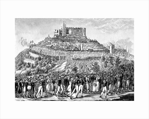 Procession to Hambach Castle on 27th May 1832. by Anonymous