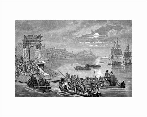 Occupation of Ancona by the French, Italy, 23 February 1832. by Philippe Auguste Jeanron