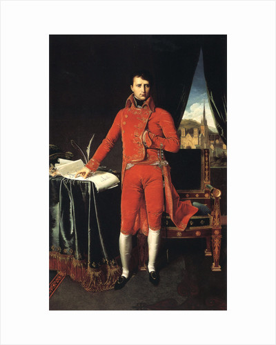 Napoleon Bonaparte as First Consul of France, 1803-1804. by Jean-Auguste-Dominique Ingres