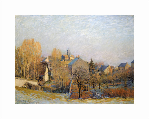 Frost in Louveciennes, 1873. by Alfred Sisley