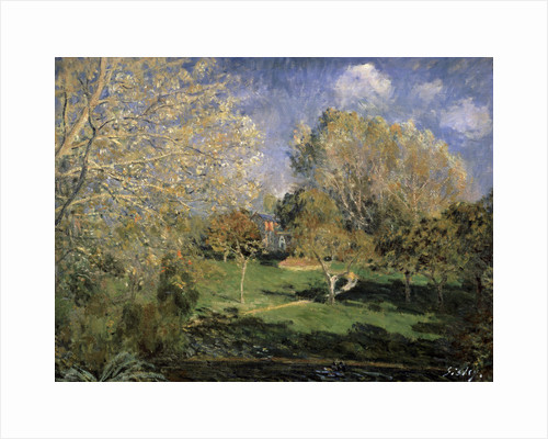 The Garden of Monsieur Hoschedé in Montgeron, 1881. by Alfred Sisley
