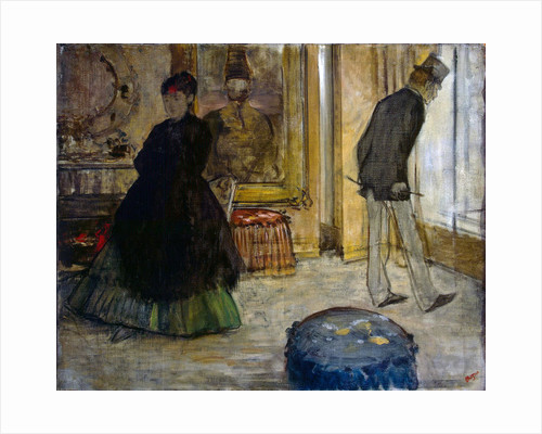 Interior with Two Figures by Edgar Degas