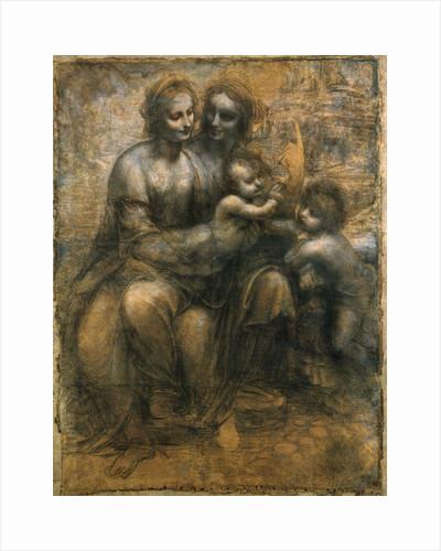 The Virgin and Child with Saint Anne and Saint John the Baptist, c1500. by Leonardo da Vinci