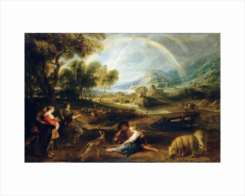 Landscape with a Rainbow, early 1630s. by Peter Paul Rubens