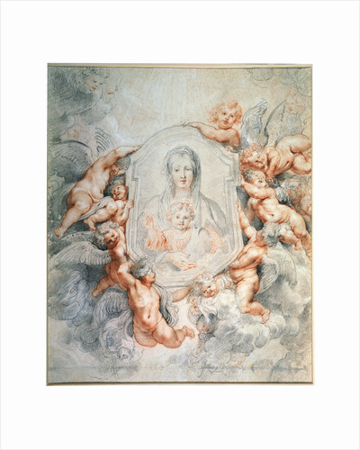 Madonna Adored by Angels (Madonna della Vallicella), 1608. by Peter Paul Rubens