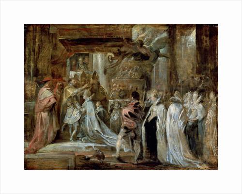 The Coronation of Marie de Medici, 1622. by Peter Paul Rubens