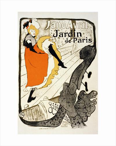 Jane Avril at the Jardin de Paris by Henri de Toulouse-Lautrec