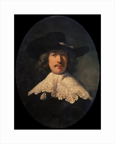 Portrait of a Young Man with a Lace Collar, 1634. by Rembrandt Harmensz van Rijn