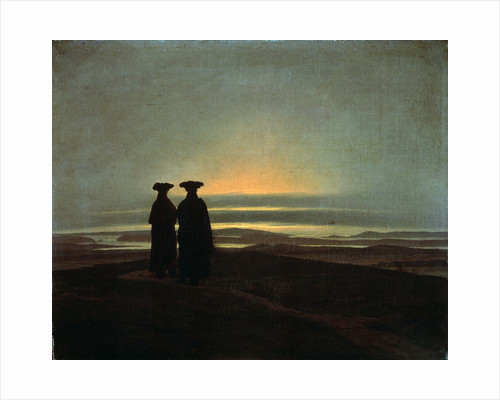 Sunset (Brothers) by Caspar David Friedrich