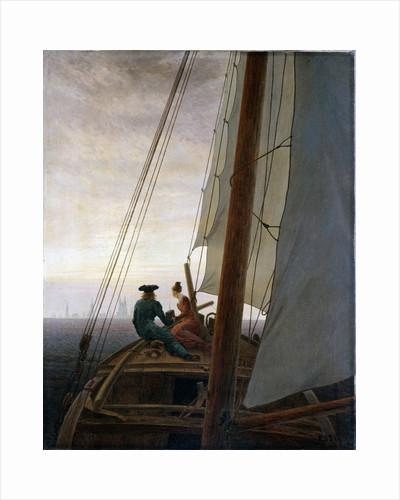 On Board a Sailing Ship, between 1818 and 1820. by Caspar David Friedrich