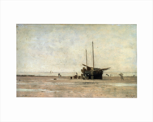The Seashore, end of the 1860s early 1870s. by Charles François Daubigny