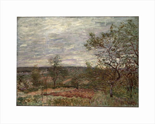 Windy Day at Veneux, 1882. by Alfred Sisley