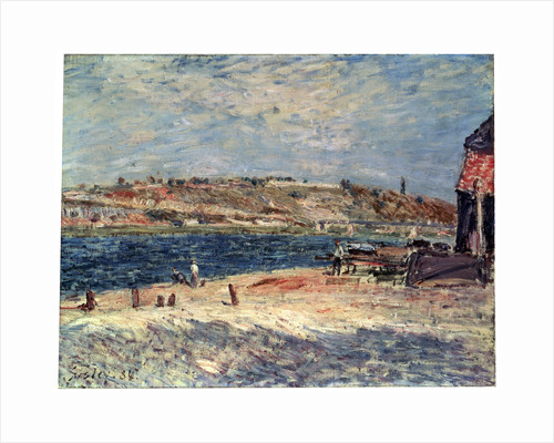 River Banks at Saint-Mammès, 1884. by Alfred Sisley