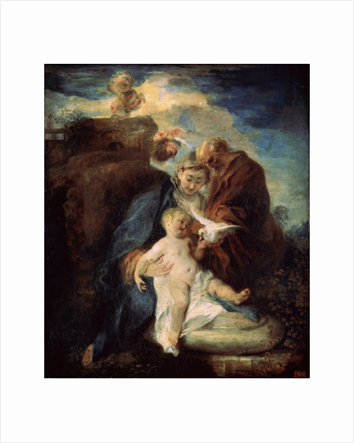 The Holy Family (Rest on the Flight into Egypt), 1719. by Jean-Antoine Watteau