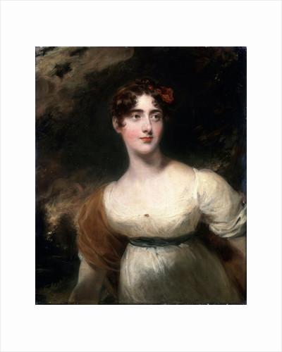 Portrait of Milady Emily Harriet Wellesley-Pole (Lady Raglan), 1814. by Thomas Lawrence