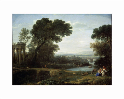 Landscape with the Rest on the Flight into Egypt (Midday), 1661. by Claude Lorrain