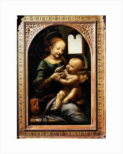 Madonna with a Flower, (Madonna Benois), 1478. by Leonardo da Vinci