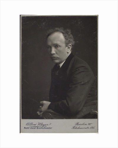 Richard Strauss, German composer, late 19th or early 20th century. by Albert Meyer