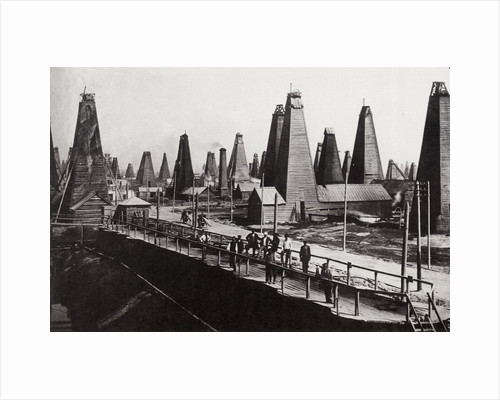 Oil wells at Baku on the Caspian Sea, Russia, c1890 by Dmitri Ivanovich Yermakov