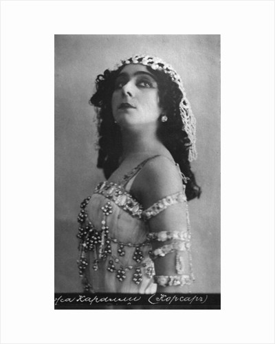 Vera Karalli, Russian ballet dancer and silent film actress, c1910s by Unknown