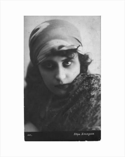 Vera Kholodnaya, Russian silent film actress, 1916 by Unknown