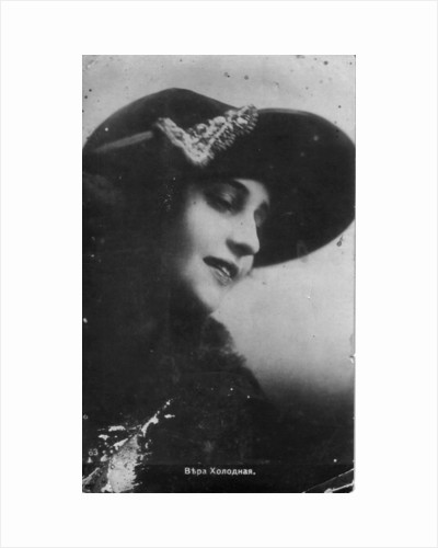 Vera Kholodnaya, Russian silent film actress, 1910s by Unknown