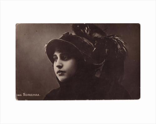 Vera Kholodnaya, Russian silent film actress, 1910s. by Sakharov & Orlov