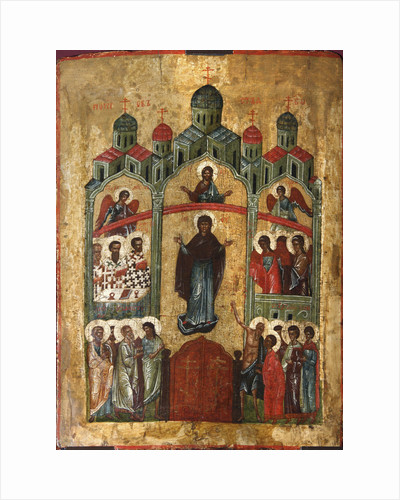 The Protection of the Mother of God (Pokrov), early 15th century by Anonymous
