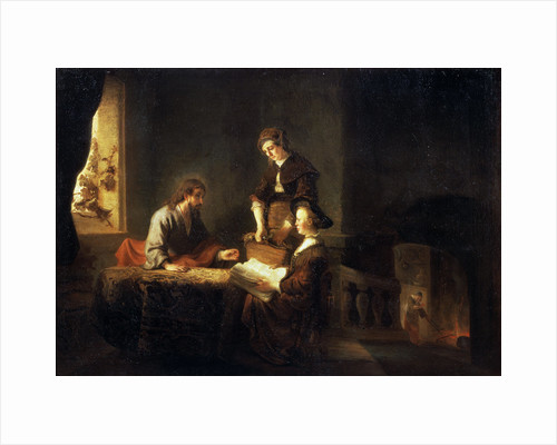 Christ in the House of Martha and Mary, 17th century by School of Rembrandt van Rijn
