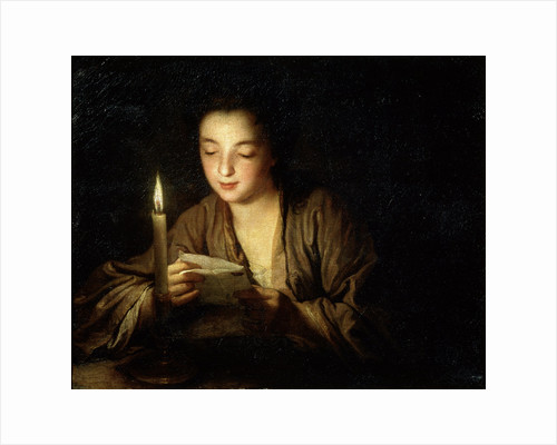 Girl with a Candle, late 17th or early 18th century. by Jean-Baptiste Santerre