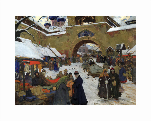 Market Day in an Old Russian Town, 1910s by Ivan Goryushkin-Sorokopudov
