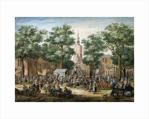 The Big Green Market in The Hague, 1769 by Paulus Constantijn la Fargue