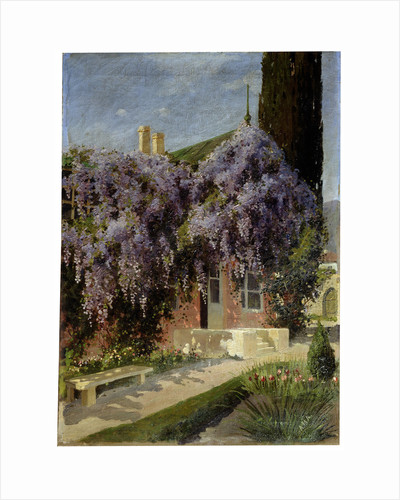 A House Entwined with Wisteria, late 19th or 20th century by Mikhail Alisov