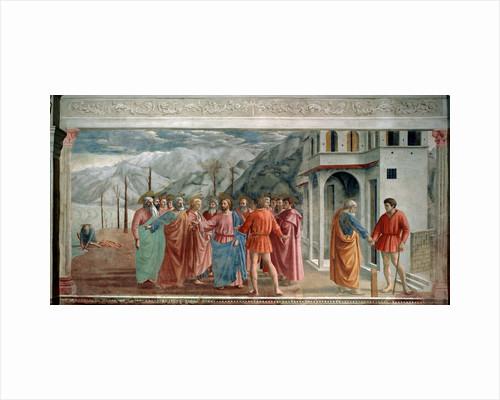 The Tribute Money, 1425. by Masaccio Tommaso