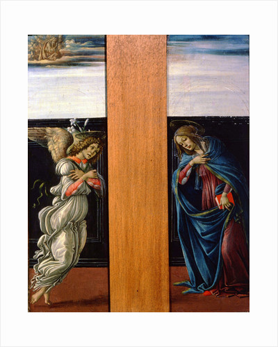 The Annunciate Virgin and Archangel Gabriel, 1490. by Sandro Botticelli