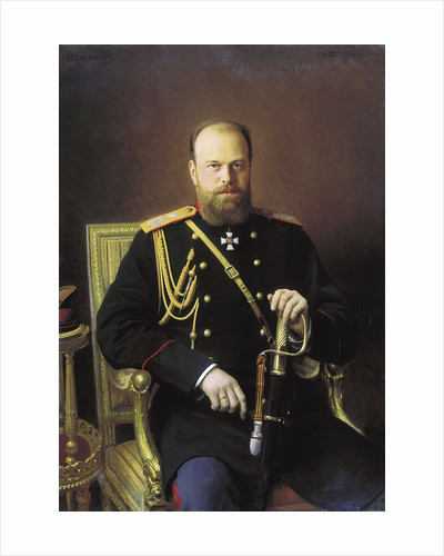 Portrait of the Emperor Alexander III by Ivan Kramskoy