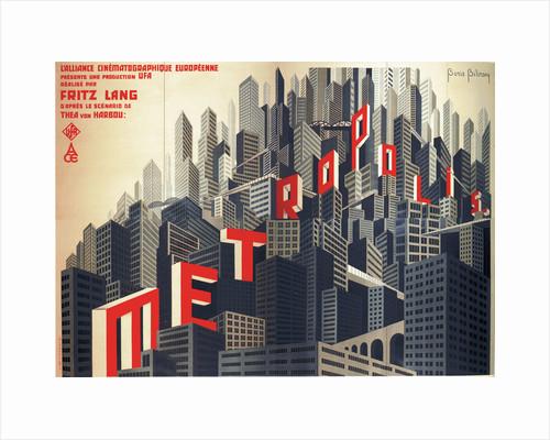 Movie poster Metropolis by Fritz Lang, 1926 by Boris Konstantinovich Bilinsky