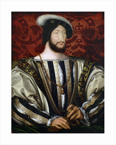 Portrait of Francis I (1494-1547), King of France, Duke of Brittany, Count of Provence by Jean Clouet