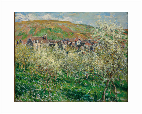 Flowering Plum Trees, 1879 by Claude Monet
