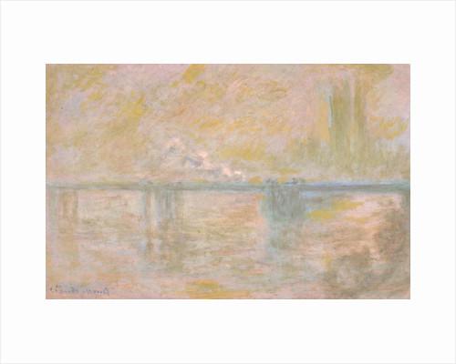 Charing-Cross Bridge in London, c. 1902 by Claude Monet