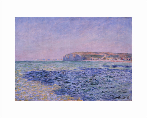 Shadows on the Sea. The Cliffs at Pourville, 1882 by Claude Monet