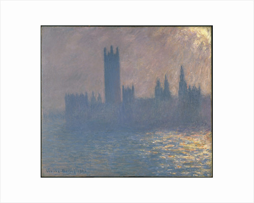 Houses of Parliament, Sunlight Effect (Le Parlement, effet de soleil), 1903 by Claude Monet
