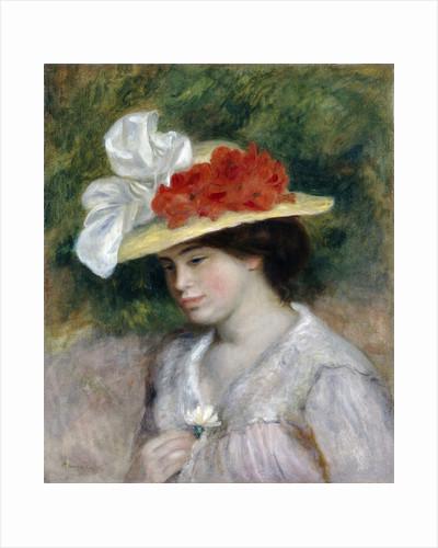 Woman in a Flowered Hat by Pierre-Auguste Renoir