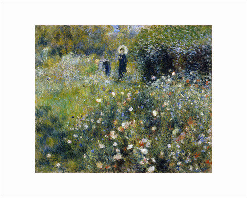 Woman with a Parasol in a Garden, 1875 by Pierre Auguste Renoir