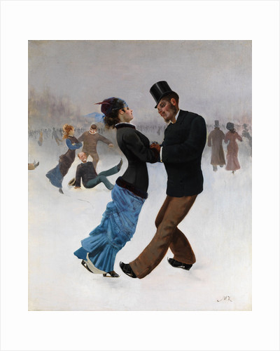 Ice Skaters by Max Klinger