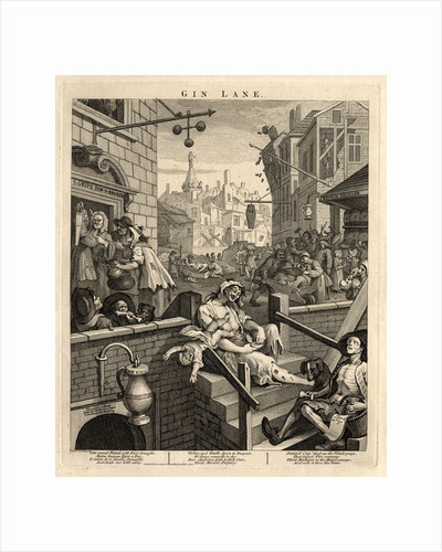 Gin Lane (Beer Street and Gin Lane 2), 1751 by William Hogarth
