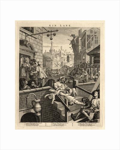 Gin Lane (Beer Street and Gin Lane 2), 1751 by William Hogarth